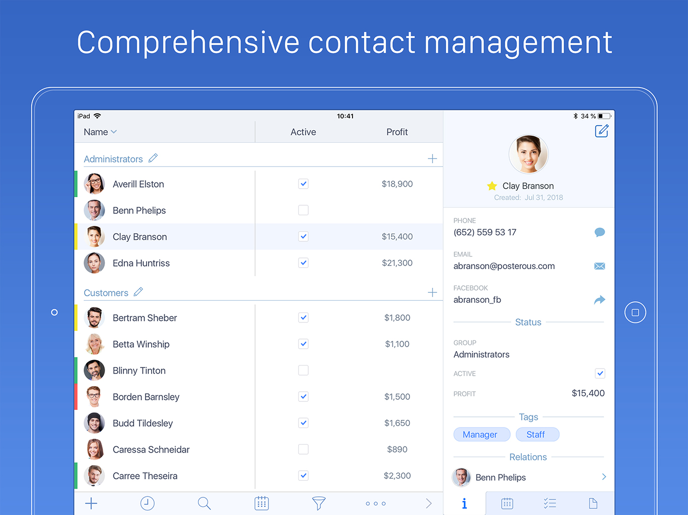 New Advanced Contact Manager Brings Powerful CRM Features to iOS Image